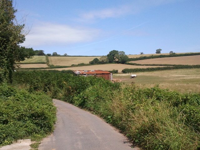 Lane and fields near the old toll house