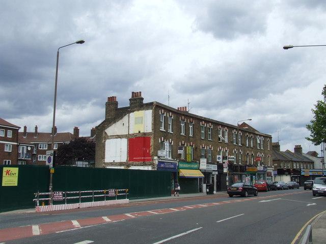 Demolition site in East Greenwich