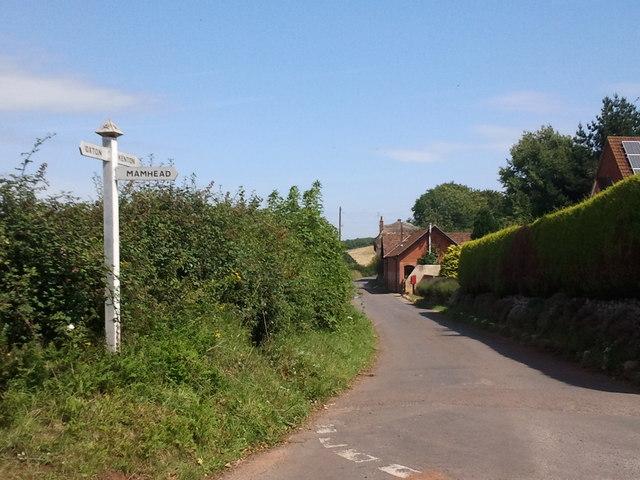 Lane junction at Oakdene
