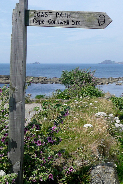 Five miles to Cape Cornwall