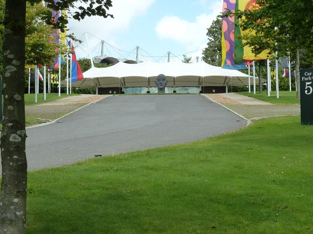 Grand entrance to Goodwood Grandstand