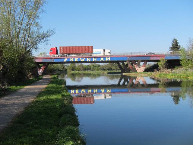 A14 bridge over the River Cam