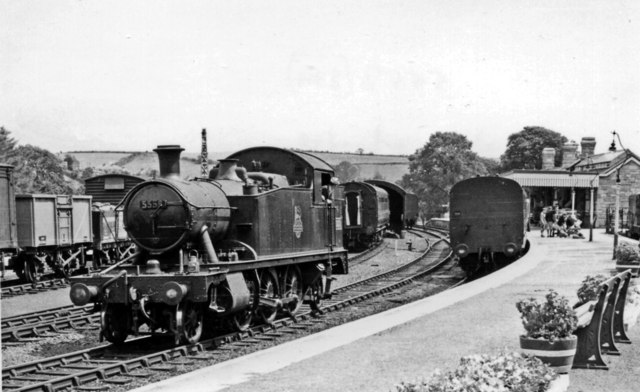 Kingsbridge Station, with a '4575' 2-6-2T