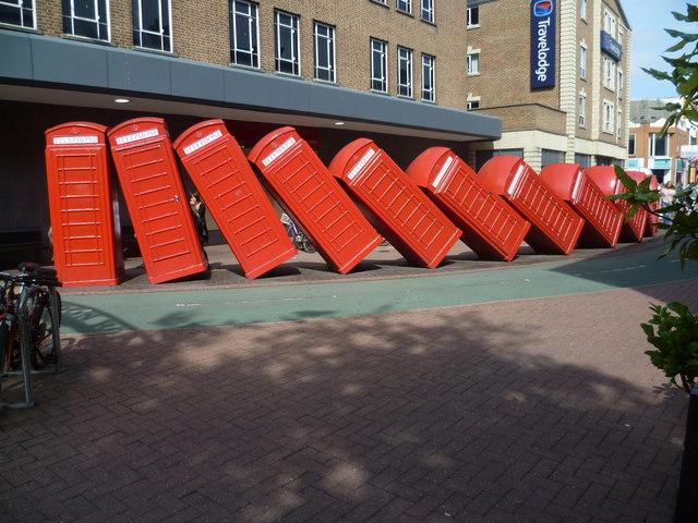The twelve telephone boxes of Kingston