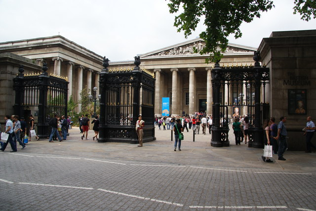 The front gates of the British Museum