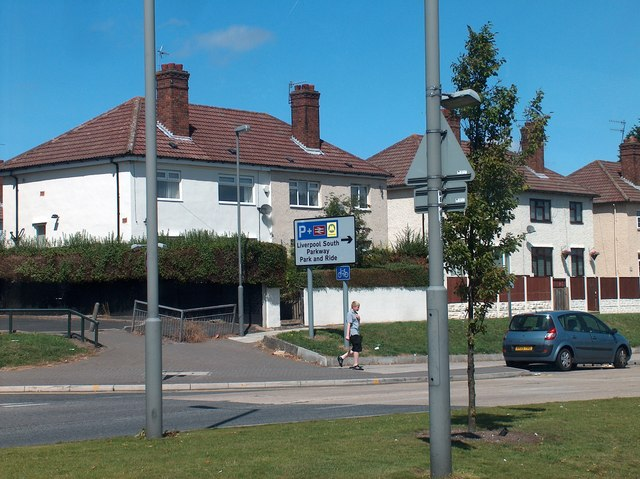 Garston close to Liverpool South Parkway Transport Interchange