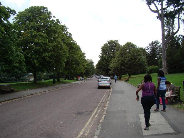 View along Royal Crescent
