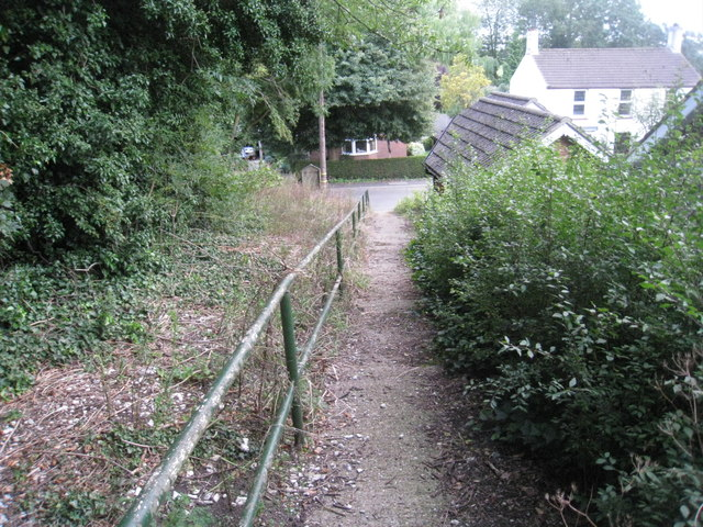 The path from the church