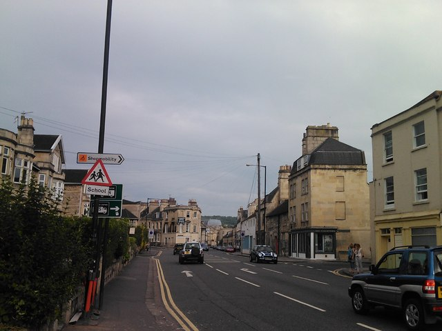 Looking into the city centre from Upper Bristol Road