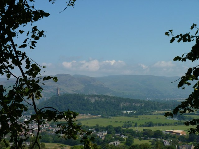 Abbey Craig and the Ochil Hills