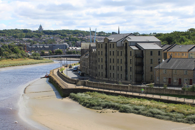 St George's Quay and the River Lune from Carlisle Bridge, Lancaster