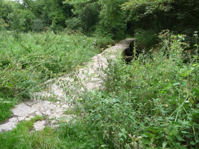 Stone causeway bridge across the River Alun