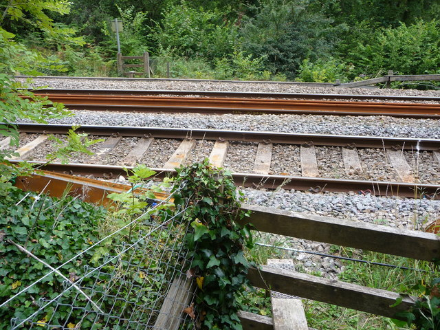 Stiles either side of the railway line
