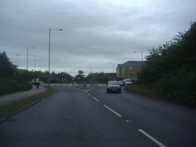 Roundabout on Fleming Way, Waltham Abbey