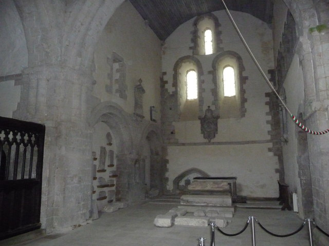 Part of the interior, Ewenny Priory