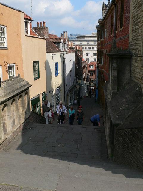 Looking down Christmas Steps, Bristol