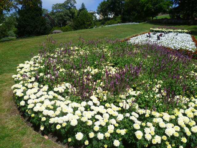 Flowerbeds in Terrace Gardens, Richmond