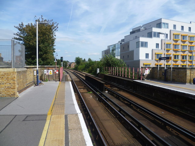 View from the platform of Kingston station