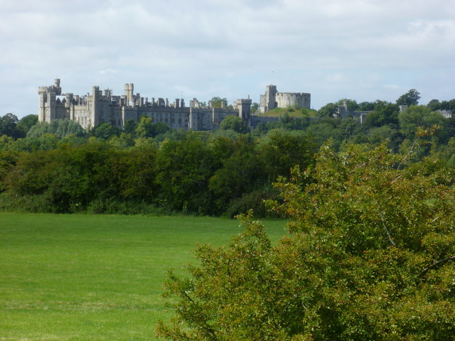 Arundel Castle from the north east