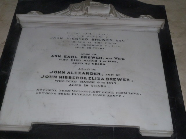 Nether Wallop- St Andrew's: memorial (3)