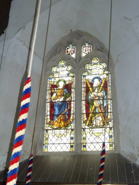 Nether Wallop- St Andrew's: stained glass window (6)