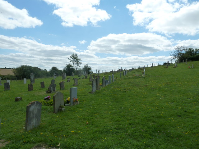 Nether Wallop- St Andrew's: the churchyard in August (3)