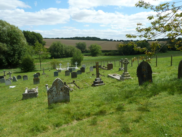 Nether Wallop- St Andrew's: the churchyard in August (7)