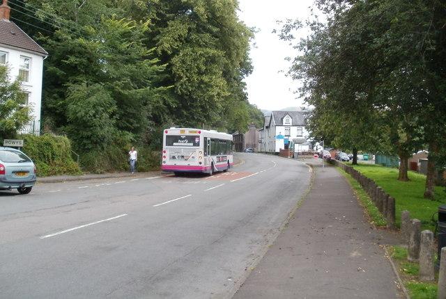 A First bus in Pontneddfechan
