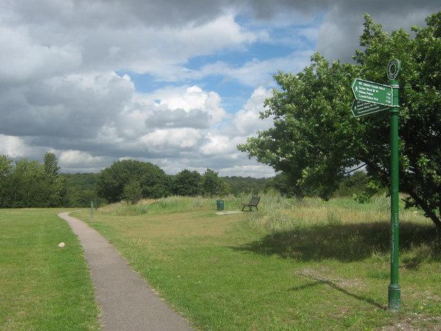 Green Chain Walk on a byway in East Wickham Open Space
