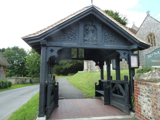 St Mary, Longstock: lych gate