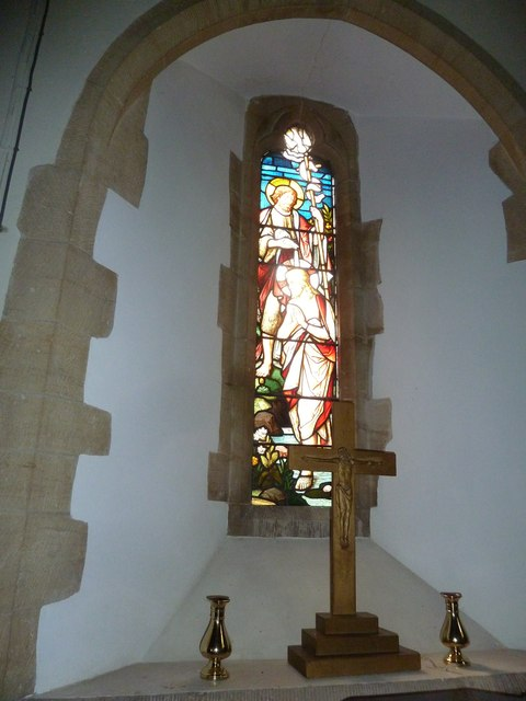 St Mary, Longstock: stained glass window (2)