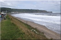 NZ8612 : The sea at Sandsend by Dave Hitchborne