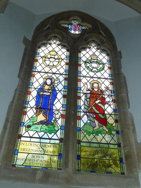 St Mary, Longstock: stained glass window (3)
