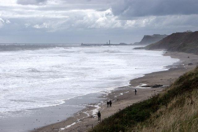 The beach at Sandsend