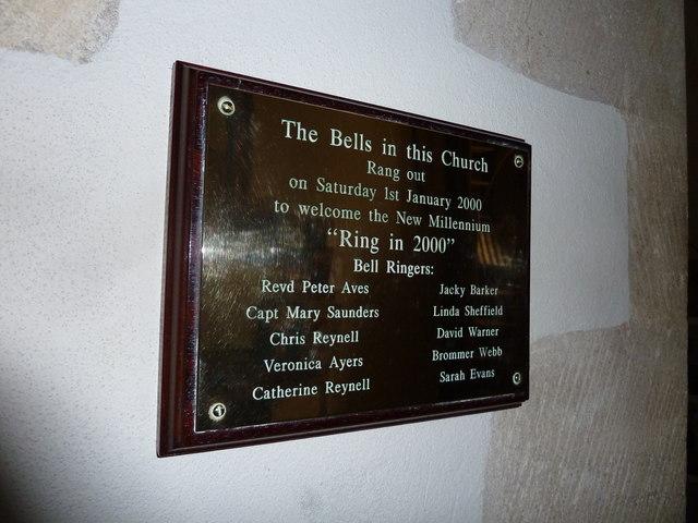 St Mary, Longstock: millennium commemoration