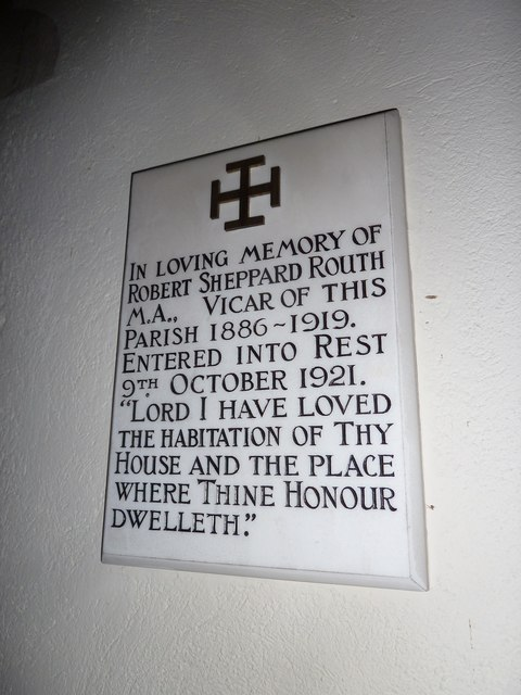 St Mary, Longstock: memorial (a)