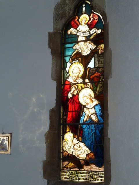 St Mary, Longstock: stained glass window (5)