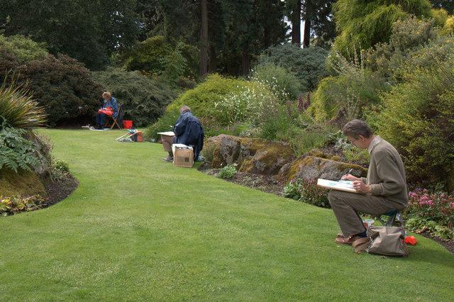 Artists in the rock garden, Royal Botanic Gardens Edinburgh