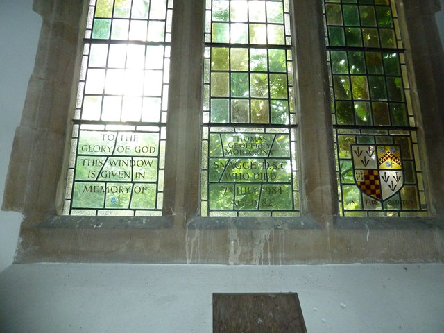 St Mary, Longstock: memorial window
