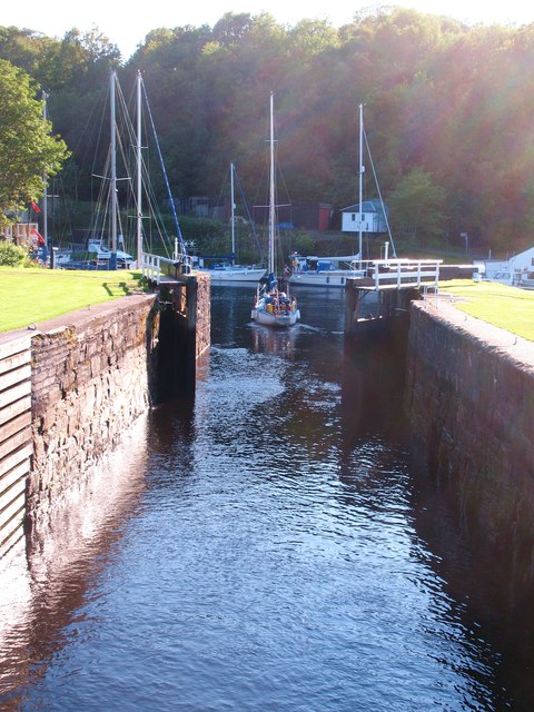 Passing into the basin at Crinan