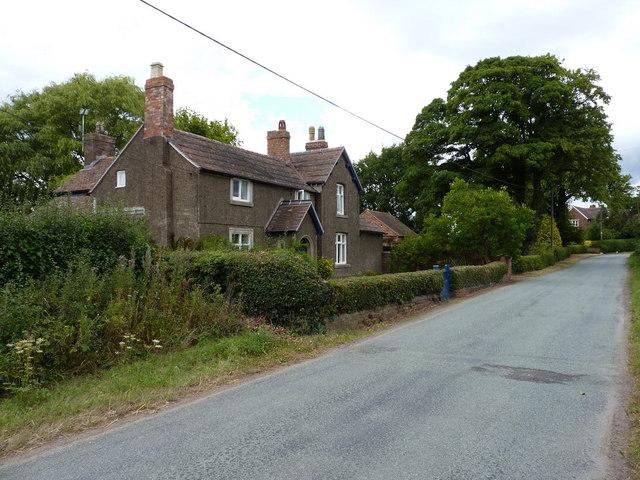 Roadside cottages in Aston