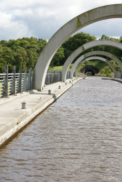 The Union Canal at the Falkirk Wheel