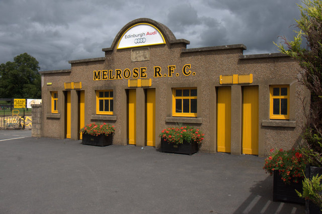 Entrance to the Greenyards, home of Melrose RFC