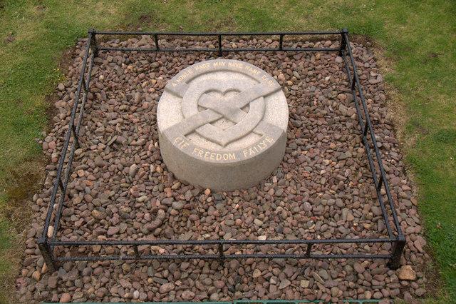 Bruce's heart memorial, Melrose Abbey