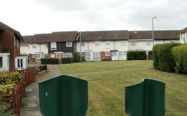 Houses in the NE corner of Moorland Park, Newport