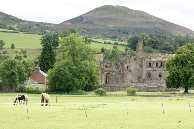 Melrose Abbey from the north