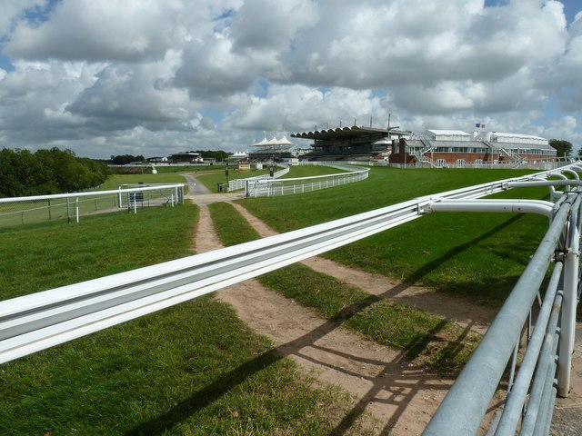 On the rails at Goodwood Racecourse