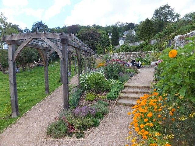 The herb garden at Leechwell Garden