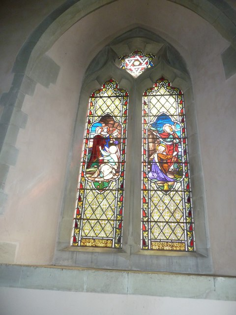 Saint Mary, Amport: stained glass window (iii)