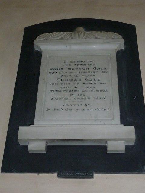 Saint Mary, Amport: memorial (A)